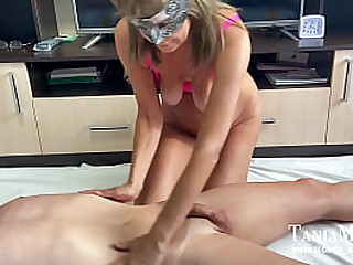 Granny massage with happy ending swallow