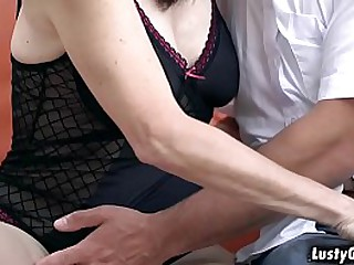 Alice Sharp is one naughty granny that craves for young cocks
