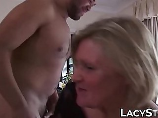 Hot UK granny pounded and facialized