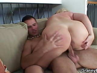 Fucked a granny with huge tits
